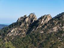 Große Ansicht zu den schönen Bergen Seoraksan Lizenzfreies Stockbild