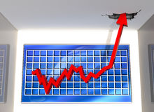 Große Aufwärtsbewegung Lizenzfreies Stockfoto