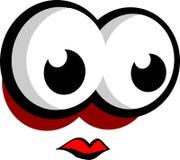 Große Augen, die nach links schauen Stockbild
