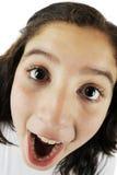 Große Augen, große Wekzeugspritze, großer Mund! Lizenzfreies Stockfoto