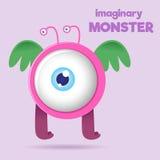 Große Augen-Kindereingebildetes Monster Stockfoto
