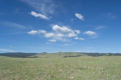 Große Ausdehnung von Wyoming-Grasland lizenzfreie stockfotografie
