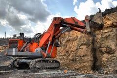 Große Baggergrabungen Stockbild