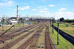 Große Bahnkreuzung Lizenzfreie Stockbilder