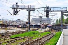 Große Bahnstation lizenzfreies stockfoto