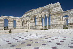 Große Basilika in Pliska. Lizenzfreies Stockfoto