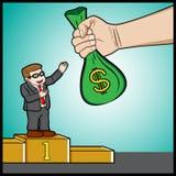 Große Belohnung für Nummer Eins im Geschäft Lizenzfreie Stockfotos