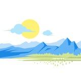 Große Berge Stockfoto