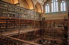 Große Bibliothek des Rijksmuseum-Nationalmuseums in Amsterdam stockbilder