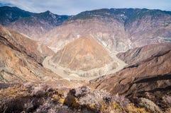 Große Biegung vom Jangtse Stockbilder