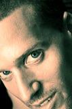 Große blaue Augen Stockbild