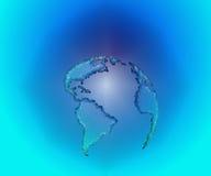 Große blaue Erde Stockbild