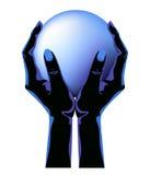 Große blaue Kugel Lizenzfreie Stockfotos