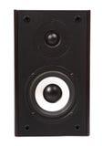 Große braune rechteckige Sprecherfrontverkleidung lokalisiert auf Weißrückseite Stockfoto