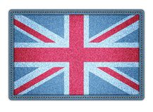 Große Britan-Flagge. Vektorillustration. eps10 Stockbild