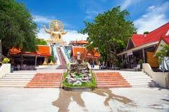 Große Buddha-Statue auf KOH samui, Thailand lizenzfreie stockfotos