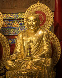 Große Buddha-Statue am chinesischen Tempel Stockbild