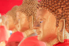 Große Buddha-Statue, goldener Buddha-Statue Makhabucha-Tag, Visakabu Stockfotografie