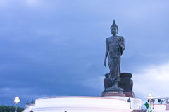 Große Buddha-Statue in Thailand Stockfotografie