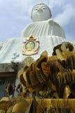 Große Buddha Wünsche Phuket stockfotografie