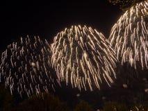 Große bunte Feuerwerke Stockfotografie