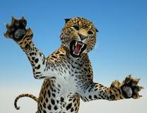 Große Cat Hunting Stockfotografie