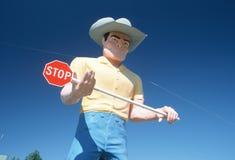 Große Cowboystraßenrandanziehungskraft, Weg 84, Identifikation Lizenzfreie Stockfotografie