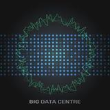 Große Daten-Algorithmen Analyse von Design Informationen Minimalistic Infographics Wissenschaft, Technologiehintergrund Vektor Stockfotografie