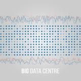 Große Daten-Algorithmen Analyse von Design Informationen Minimalistic Infographics Wissenschaft, Technologiehintergrund Vektor Lizenzfreie Stockfotografie