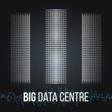 Große Daten-Algorithmen Analyse von Design Informationen Minimalistic Infographics Wissenschaft, Technologiehintergrund Vektor Lizenzfreies Stockfoto