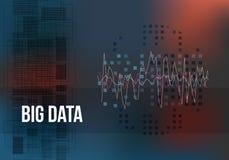 Große Daten-Algorithmen Analyse von Informationen Minimalistic-Design Wissenschaft, Technologie-Farbhintergrund Vektor Stockfoto