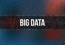 Große Daten-Algorithmen Analyse von Informationen Minimalistic-Design Wissenschaft, Technologie-Farbhintergrund Vektor Stockfotografie