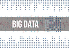 Große Daten-Algorithmen Analyse von Informationen Minimalistic-Design Wissenschaft, Technologie-hellfarbiger Hintergrund Vektor Lizenzfreies Stockfoto
