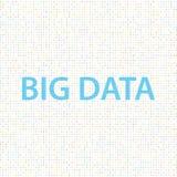 Große Daten bezüglich eines digitalen Hintergrundes lizenzfreie abbildung