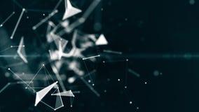 Große Daten Cybernetzwolkenhintergrund-Wiedergabe, Sichtbarmachungen des Sozialen Netzes des Plexus 3d vektor abbildung