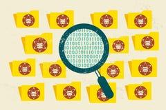 Große Daten, Daten-Wissenschaft und Kommunikationskonzept lizenzfreie abbildung