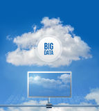 Große Daten der Wolke Lizenzfreie Stockbilder