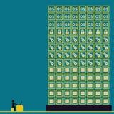 Große Daten mit Benutzerkonzeptideen Stockbilder