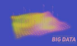 Große Daten stellen bunte Sichtbarmachung grafisch dar Futuristisches infographic Ästhetisches Design der Informationen Sichtdate Stockfotografie