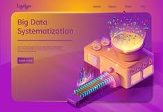 Große Daten-Systematisierungs-Service-Webseiten-Schablone lizenzfreie abbildung