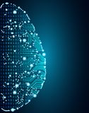 Große Daten und Gehirnkonzept der künstlichen Intelligenz stock abbildung