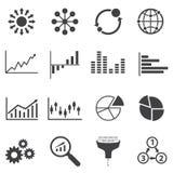 Große Datenikone, Geschäft Infographic lizenzfreie abbildung