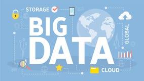 Große Datenkonzeptillustration stock abbildung