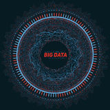 Große Datenrundschreibensichtbarmachung Futuristisches infographic Ästhetisches Design der Informationen Sichtdatenkomplexität Stockfoto