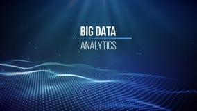 Große Datensichtbarmachung Hintergrund 3D Großer Datenverbindungshintergrund Cybertechnologie Ai-Technologiedrahtnetz futuristisc Stockbild