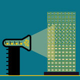 Große Datentechnologie Stockbild