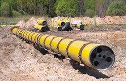 Große diametr Erdgasleitung Lizenzfreie Stockfotografie