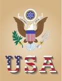 Große Dichtung von Vereinigten Staaten von Amerika USA Stock Abbildung
