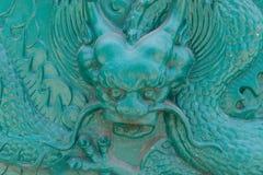 Große Dracheskulptur symbolisierte Reichtum und Energie Lizenzfreie Stockfotos