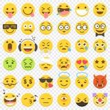 Große Ebene Vektor Emoji stellte 2 ein Stockfoto